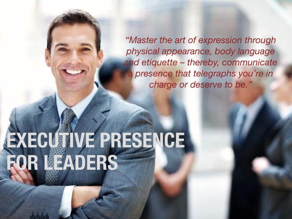 Program: Executive Presence